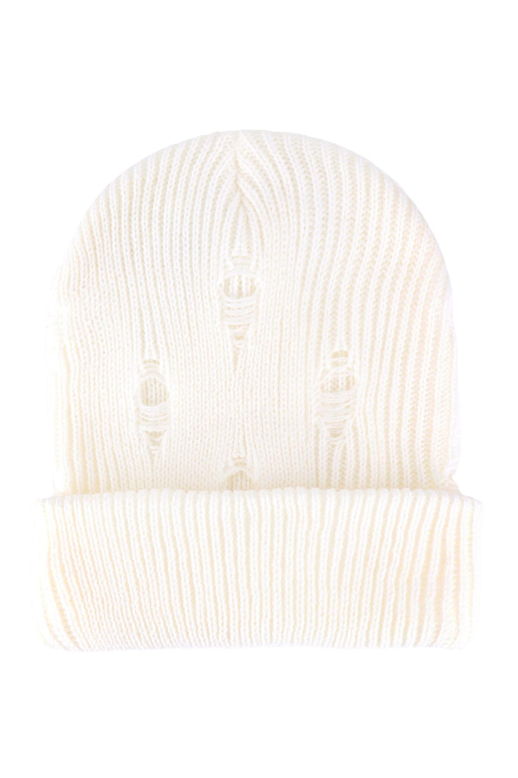 Riah Fashion Vintage-Knitted-Fashion-Beanie - Front Cropped Image