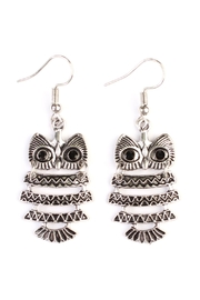 Riah Fashion Vintage Owl Bohemian-Earrings - Product Mini Image