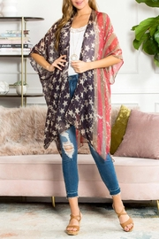 Riah Fashion Vintage-Splattered Usa Kimono - Product Mini Image
