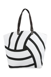 Riah Fashion Volleyball Leather Tote Bag - Product Mini Image