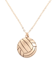Riah Fashion Volleyball-Pendant-W/-Message-On-Back-Necklace - Product Mini Image