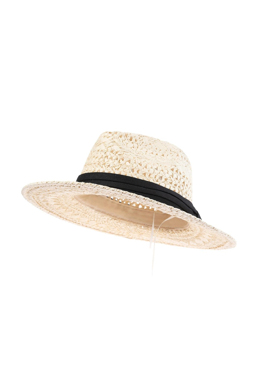 Riah Fashion Vory Straw Woven Lady Hat - Front Full Image