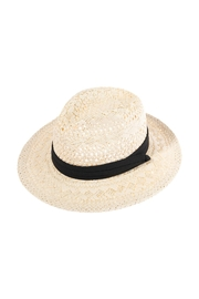 Riah Fashion Vory Straw Woven Lady Hat - Front cropped