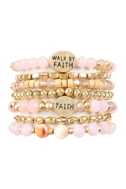 Riah Fashion Walk By Faith Charm Mix Beads Bracelet - Front cropped