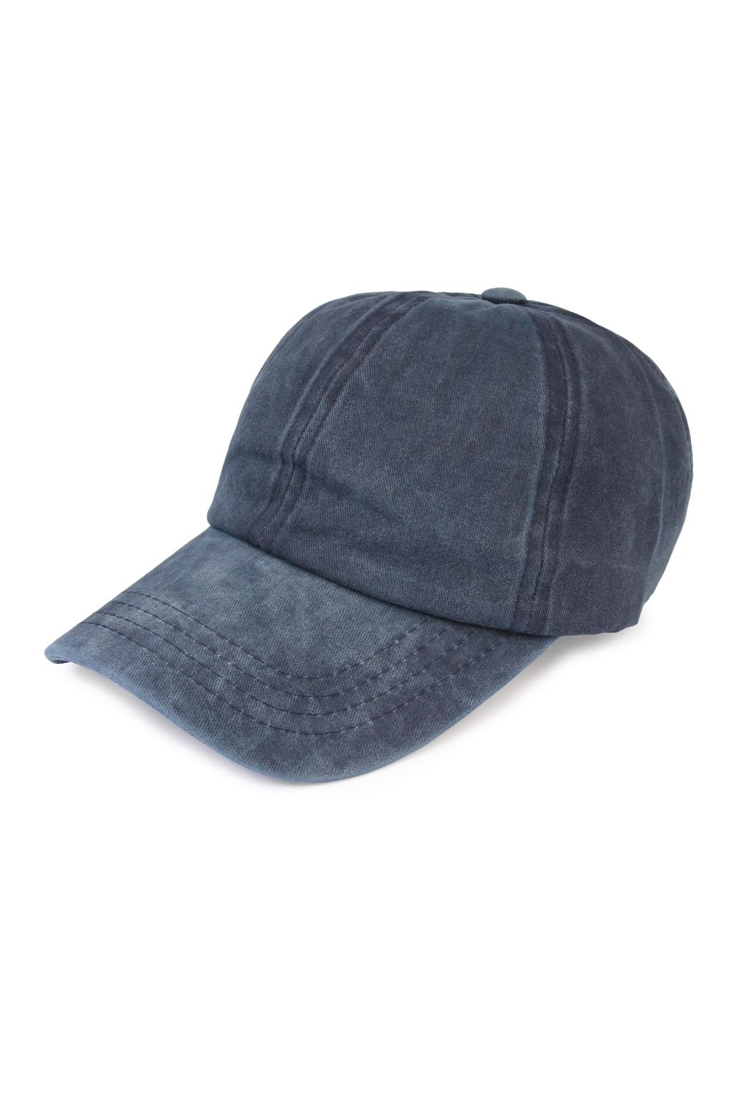 Riah Fashion Washed Out  Baseball Cap - Front Cropped Image