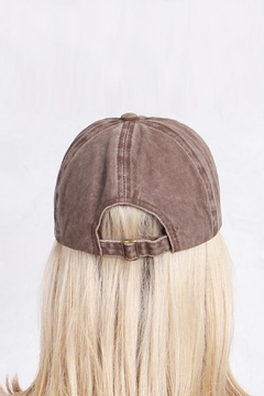 Riah Fashion Washed Out  Baseball Cap - Alternate List Image