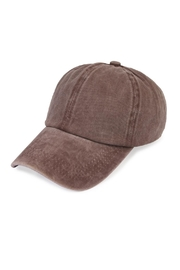 Riah Fashion Washed Out  Baseball Cap - Product Mini Image