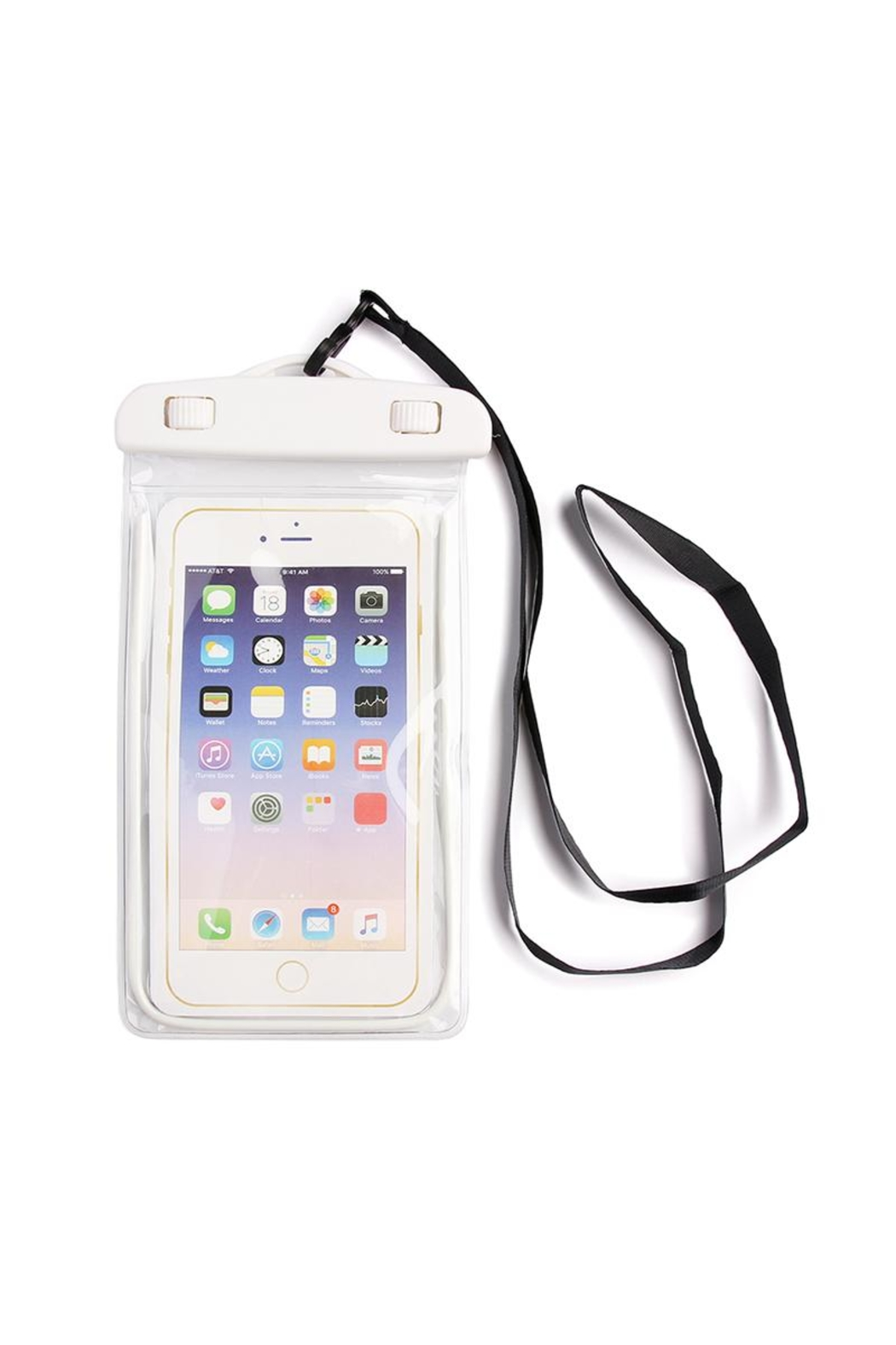Riah Fashion White Water Proof Phone Bag - Front Cropped Image
