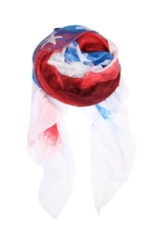 Riah Fashion Watercolor American Flag-Scarf - Product Mini Image