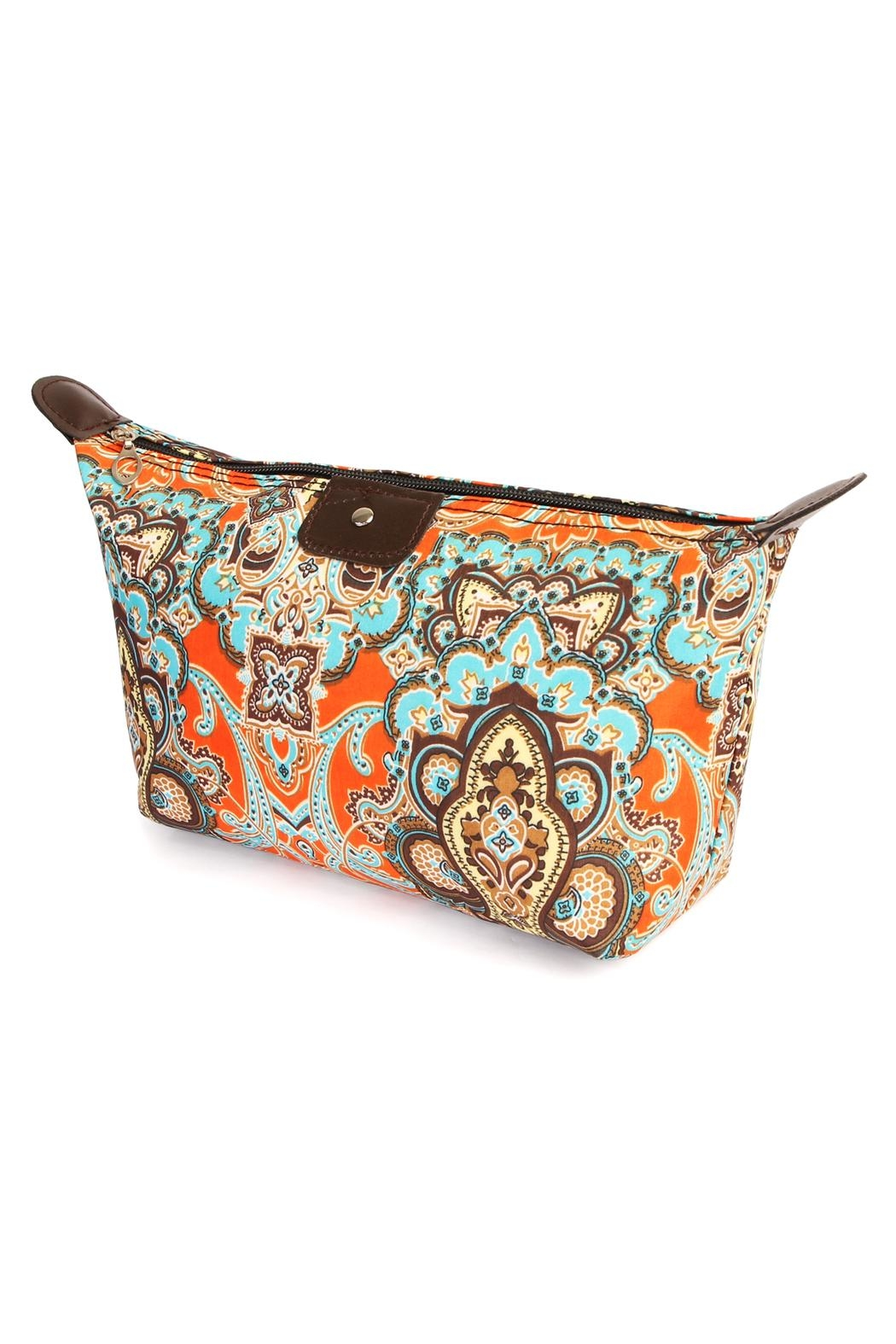 Riah Fashion Watermark Cosmetic Bag - Front Cropped Image