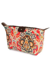 Riah Fashion Watermark Cosmetic Bag - Front cropped