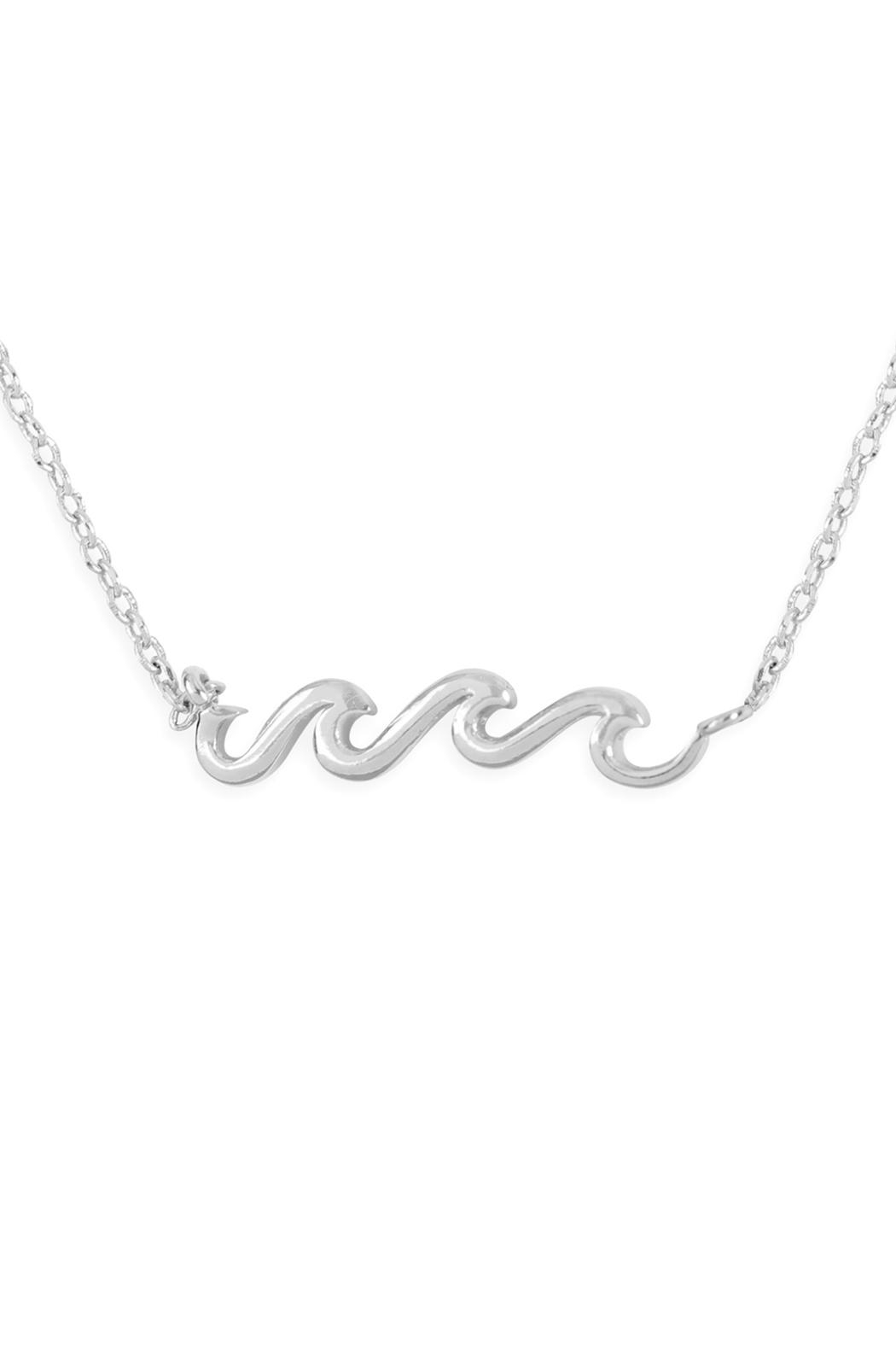 Riah Fashion Wave Pendant Necklace - Front Cropped Image