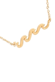 Riah Fashion Wave Pendant Necklace - Front full body