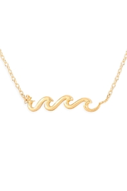 Riah Fashion Wave Pendant Necklace - Front cropped