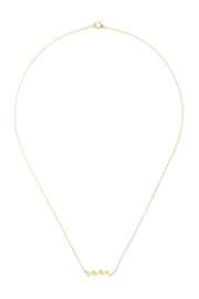 Riah Fashion Wave Pendant Necklace - Side cropped