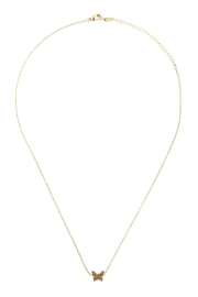 Riah Fashion Wave Round Pendant-Necklace - Front full body
