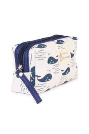 Riah Fashion Whale Cosmetic Pouch - Front full body