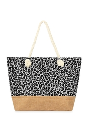 Riah Fashion White-Leopard-Printed Tote Bag - Front cropped