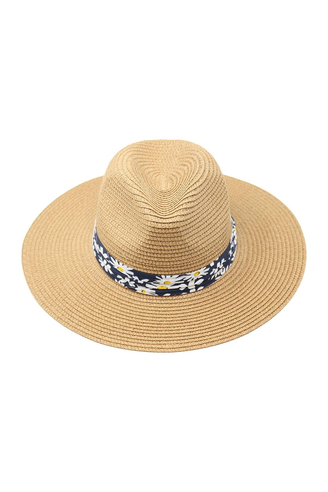 Riah Fashion White-Women's-Summer-Flower-Strap-Hat - Front Cropped Image