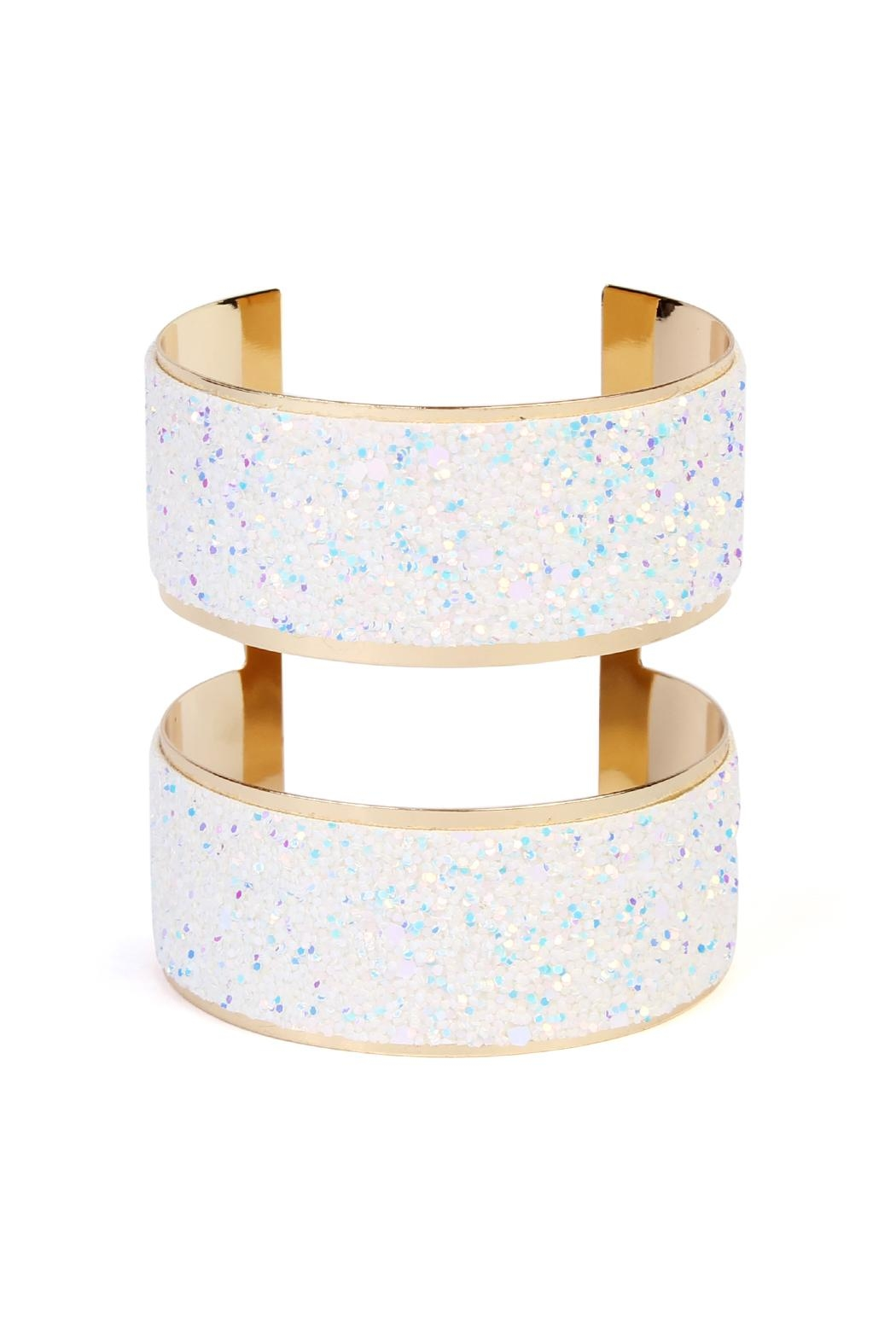 Riah Fashion Wide Arm Cuff-Bracelet - Front Cropped Image