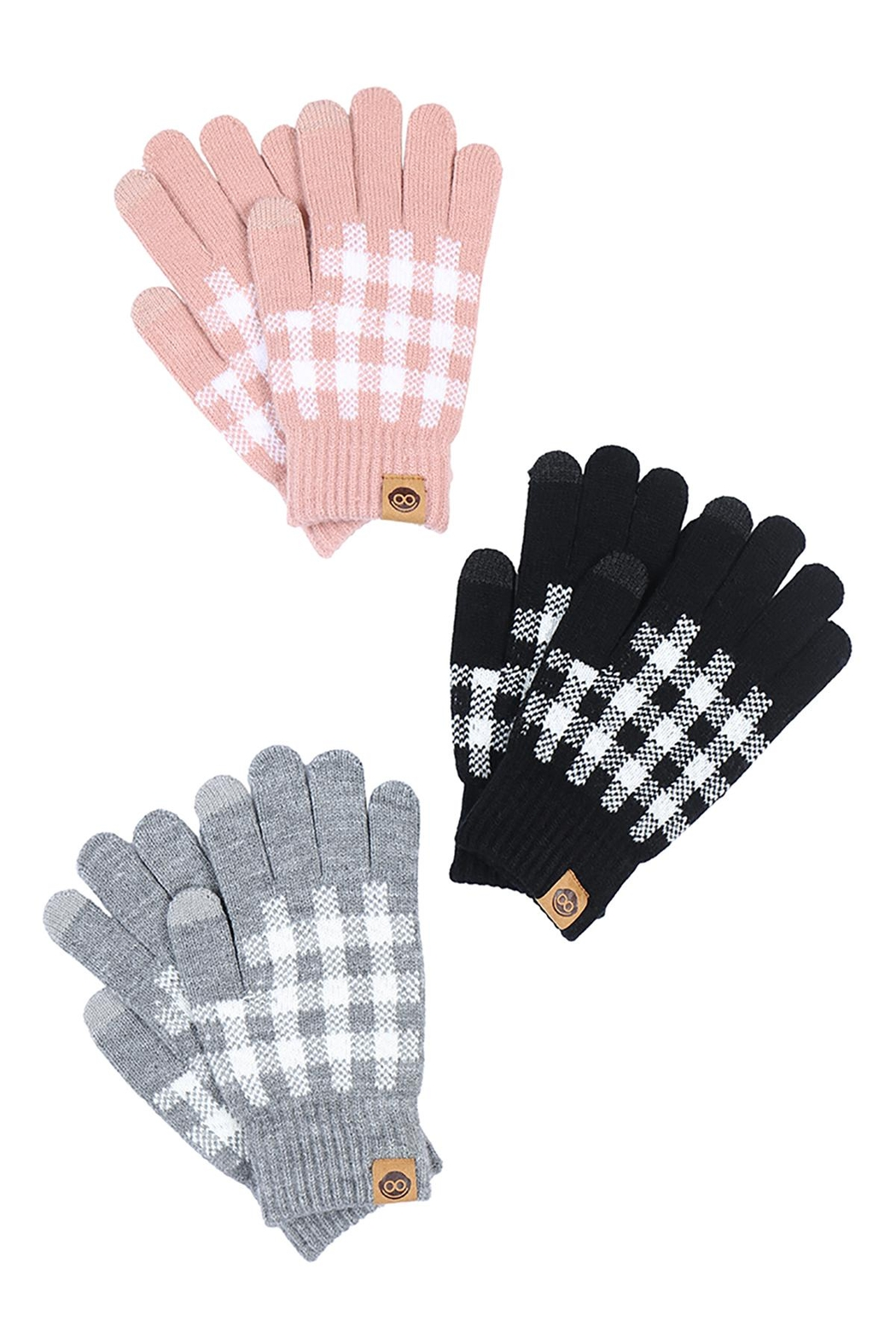 Riah Fashion Winter-Gloves - Front Full Image