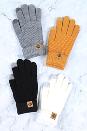 Riah Fashion Winter-Gloves-Knit-Smart-Touch-Assorted-Set - Front full body