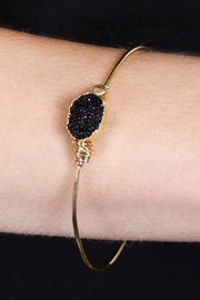Riah Fashion Wired Oval-Resin Druzy-Bracelet - Front full body
