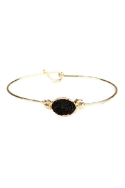 Riah Fashion Wired Oval-Resin Druzy-Bracelet - Front cropped