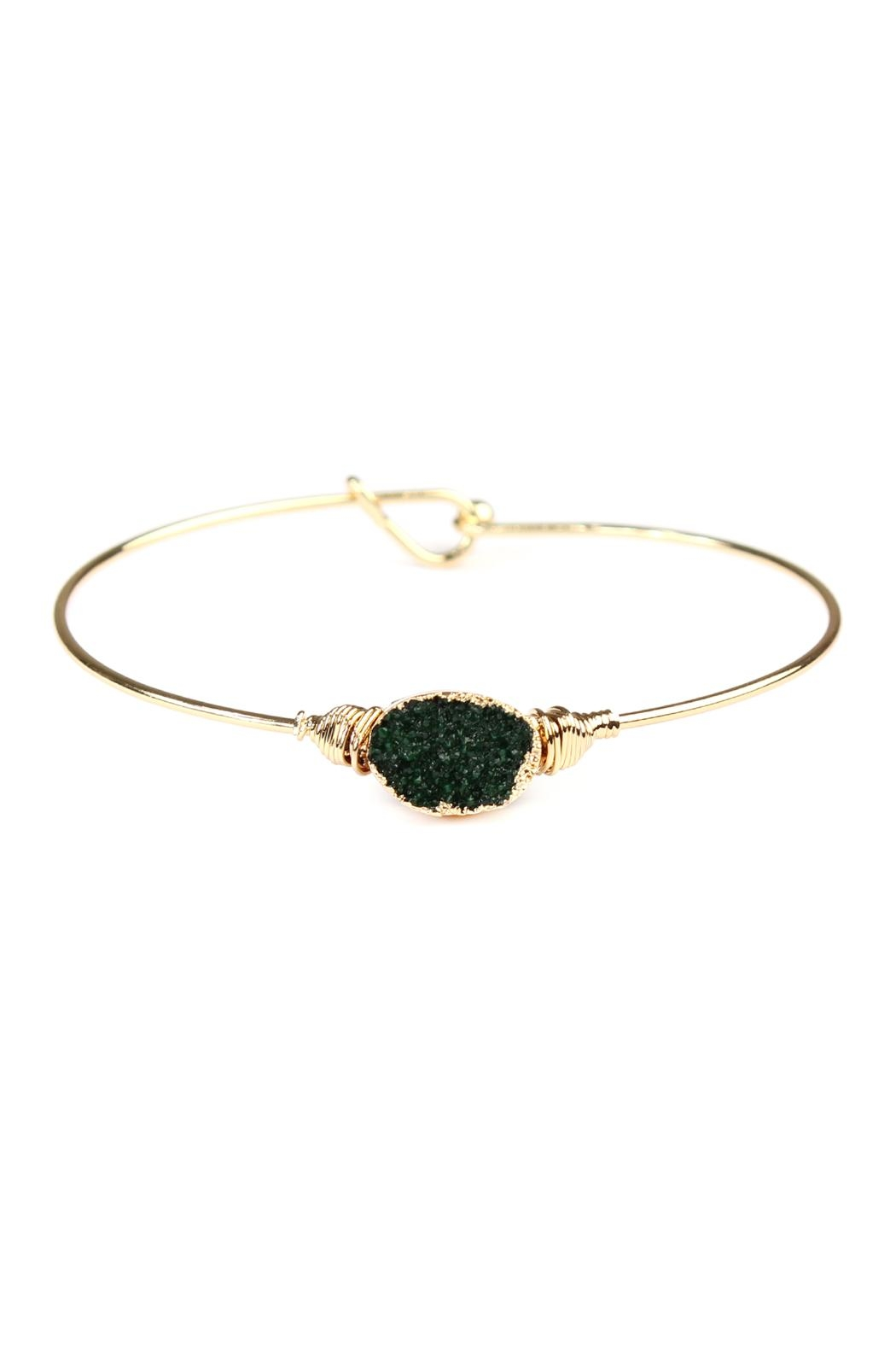 Riah Fashion Wired Oval-Resin Druzy-Bracelet - Main Image