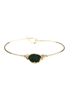 Riah Fashion Wired Oval-Resin Druzy-Bracelet - Product List Image