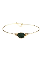 Riah Fashion Wired Oval-Resin Druzy-Bracelet - Product Mini Image