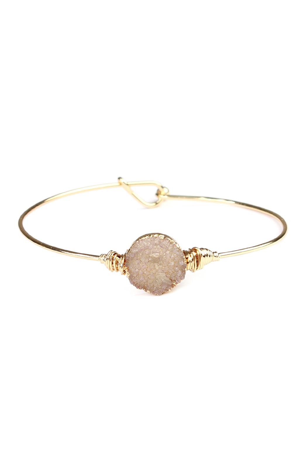 Riah Fashion Wired Round-Resin Druzy-Bracelet - Front Cropped Image