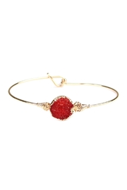 Riah Fashion Wired Round-Resin Druzy-Bracelet - Front cropped