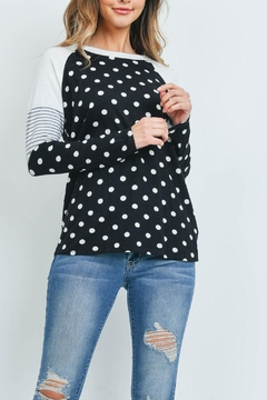 Riah Fashion With-Dots-Top - Product List Image
