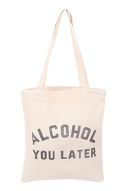 Riah Fashion Women's-Printed-Alcohol-You-Later-Tote-Bag - Front cropped