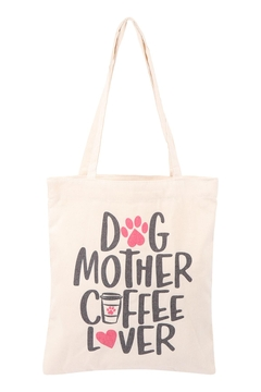 Shoptiques Product: Women's-Printed-Bag-Dog-Coffee-Lover-Tote Bag