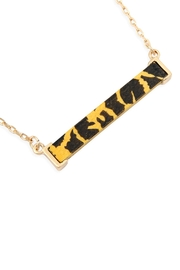 Riah Fashion Wood Bar Chain Necklace - Product Mini Image