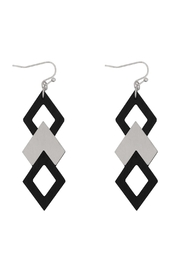 Riah Fashion Wood Satin Earrings - Front cropped