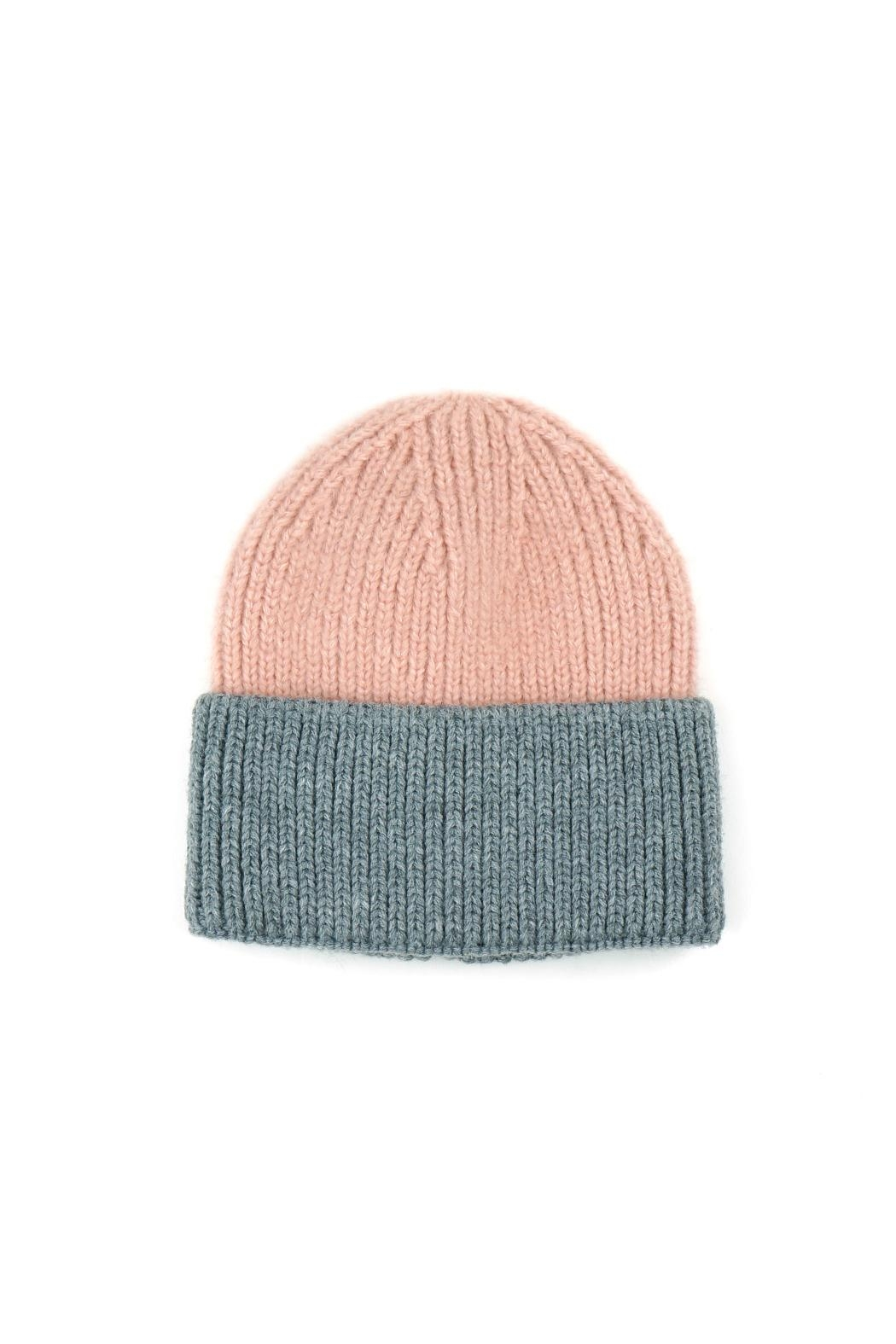 Riah Fashion Wool-Blended-Two-Tone-Solid-Beanie - Side Cropped Image