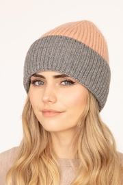 Riah Fashion Wool-Blended-Two-Tone-Solid-Beanie - Front full body