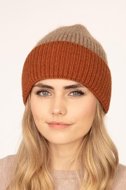 Riah Fashion Wool-Blended-Two-Tone-Solid-Beanie - Front cropped
