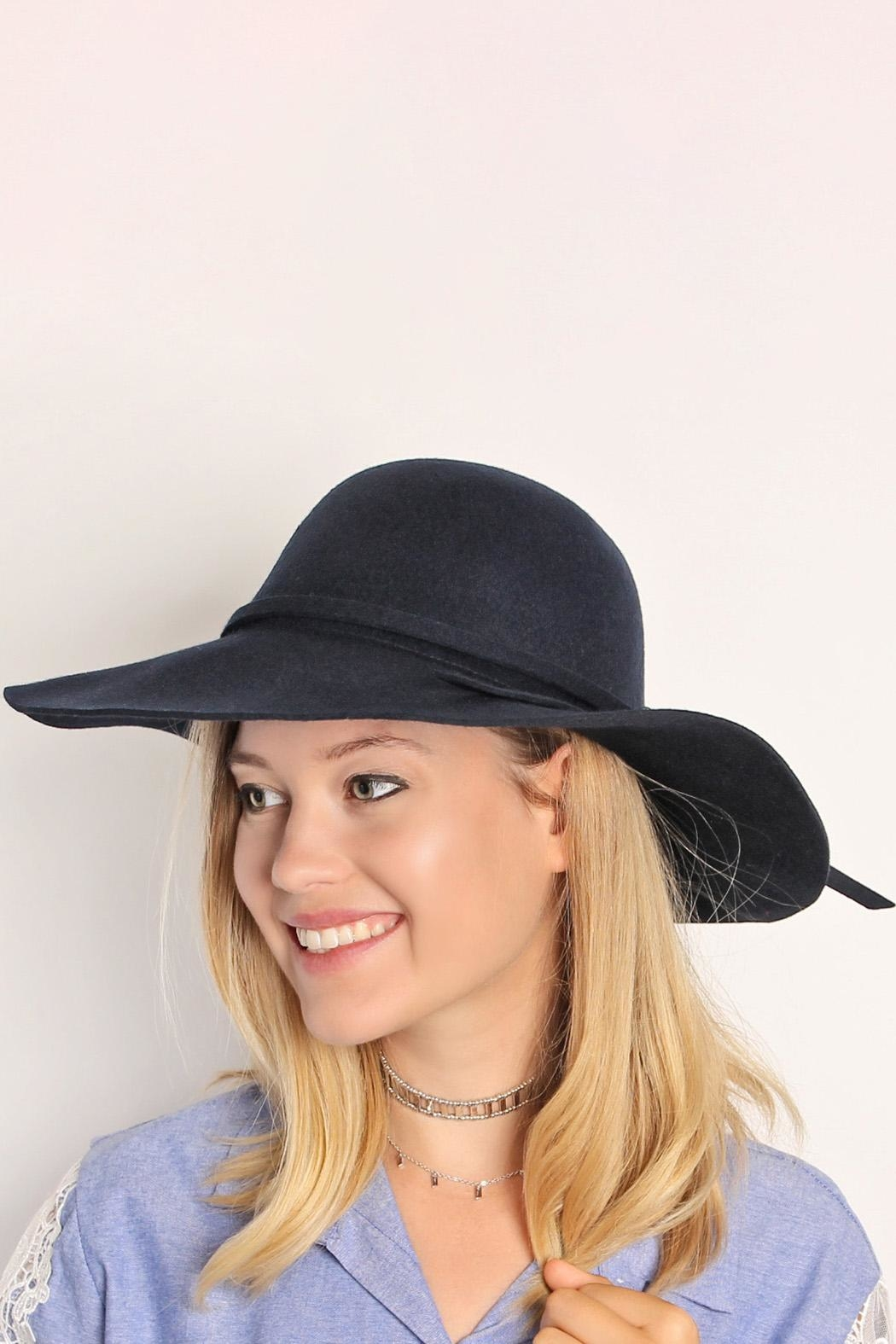 Riah Fashion Wool Fedora Hat - Front Full Image