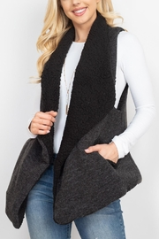 Riah Fashion Wool-Shawl-Vest-With-Pocket - Front cropped