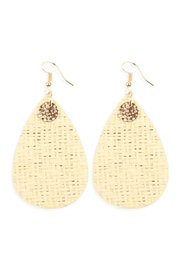 Riah Fashion Woven Fiber Teardrop Earrings - Product Mini Image