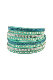 Riah Fashion Green Wrap Around Bracelet - Product Mini Image