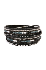 Riah Fashion Wrap-Around Leather Trendy-Bracelets - Front cropped