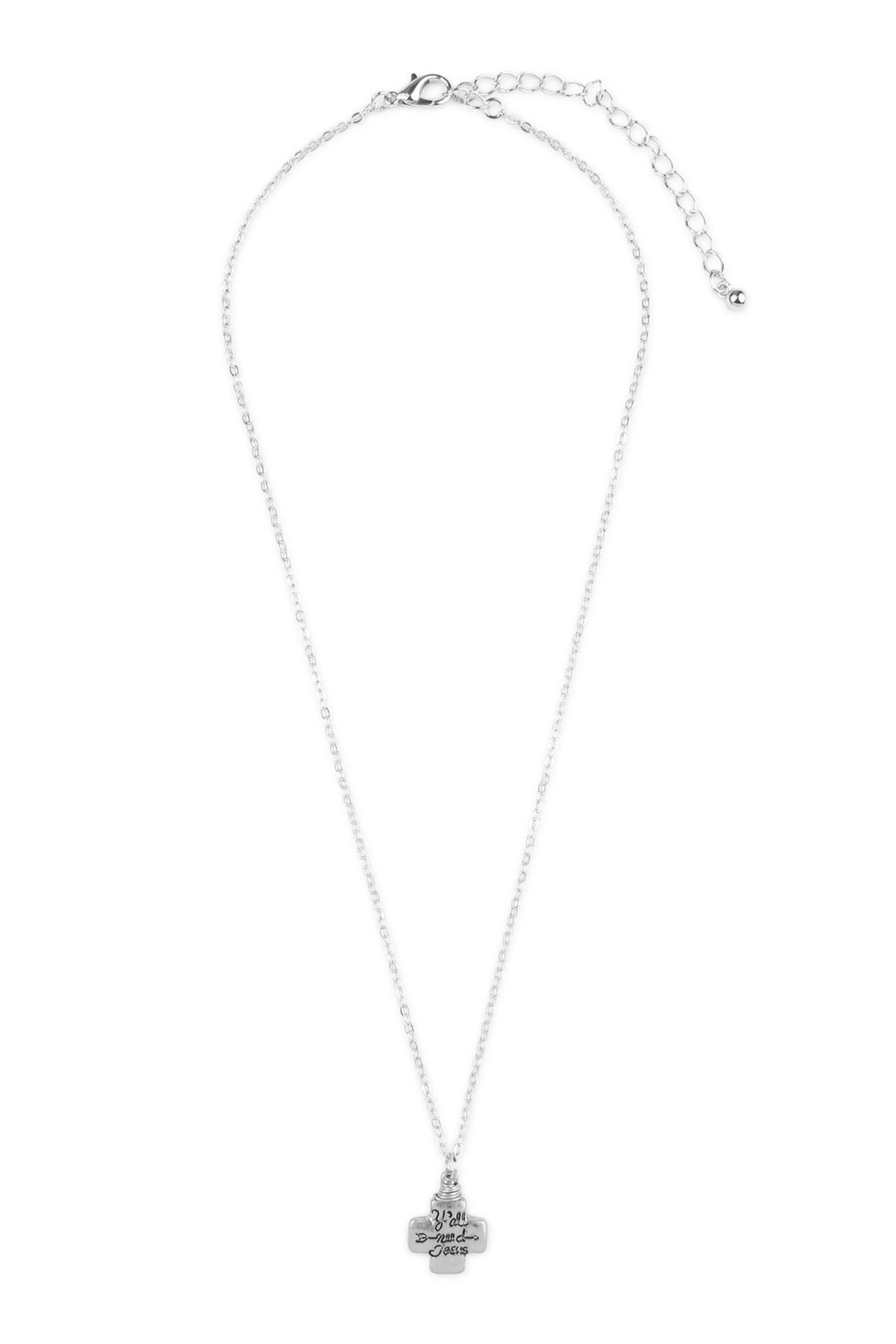 Riah Fashion Y'all-Need-Jesus Necklace - Front Cropped Image