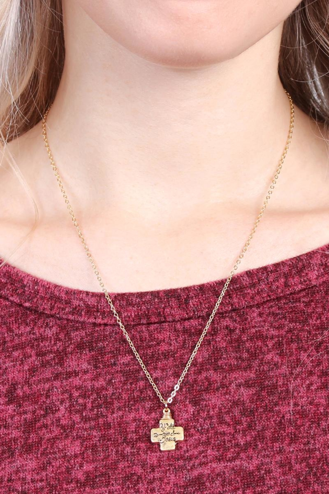 Riah Fashion Y'all-Need-Jesus Necklace - Front Full Image