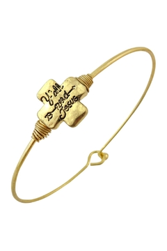 "Shoptiques Product: ""Y'all-Need-Jesus"" Wired-Bracelet"
