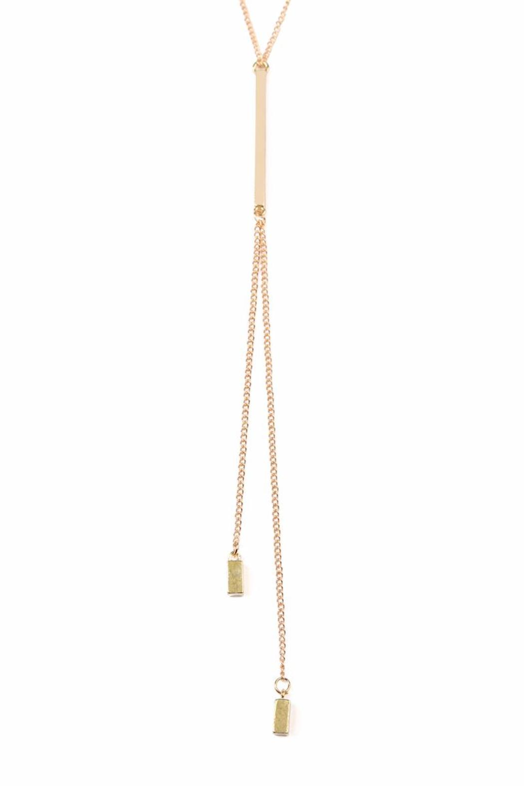 Riah Fashion Y Chain Necklace - Side Cropped Image